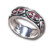 Pugin Cross Ring - size Y
