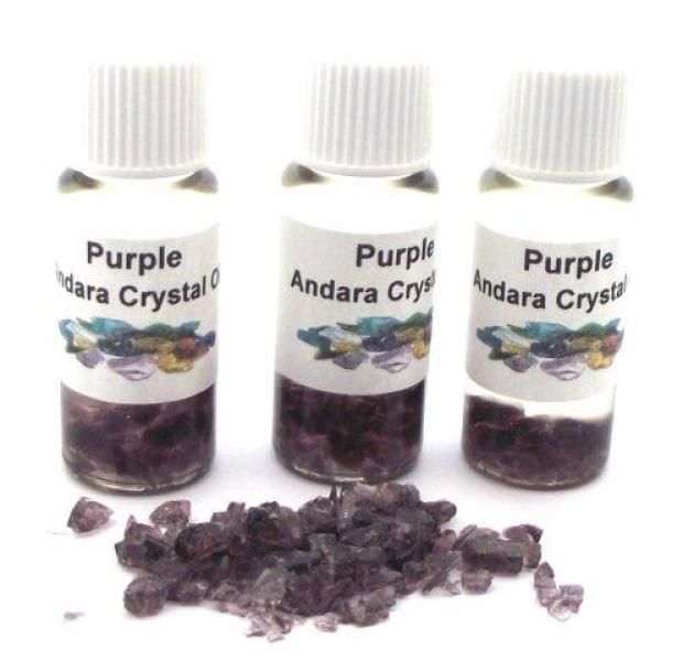 Purple Andara Crystal Infused Oil with COA