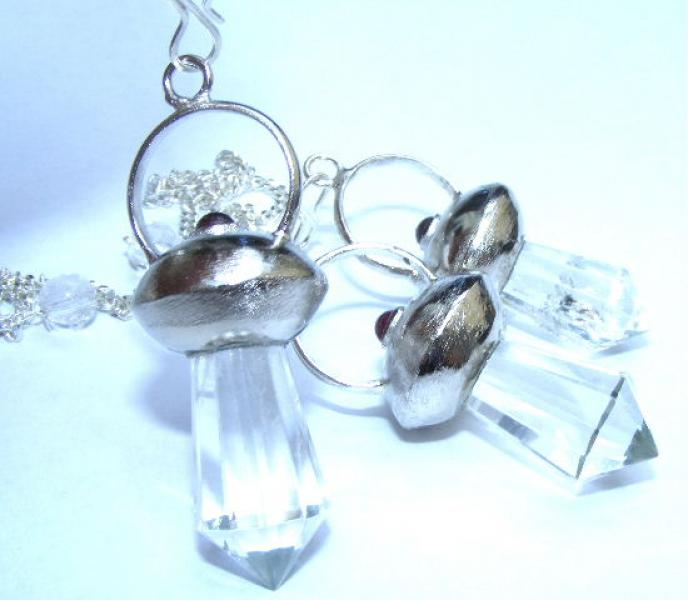 Quartz And Garnet Pendulum Dowser Crystal