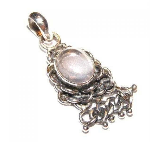 Quartz Knotted Pendant - .925 Sterling Silver