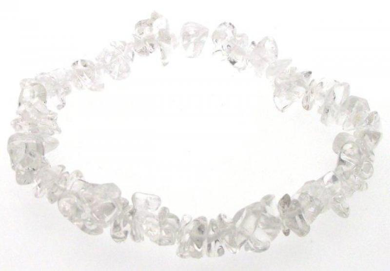 Quartz / Rock Crystal Gemstone Chip Bracelet