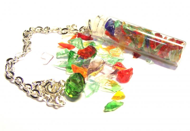 Rainbow Chakra Andara Glass Pendulum Dowser Bottle
