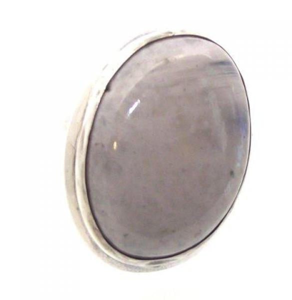 Rainbow Moonstone Gemstone Ring Size S