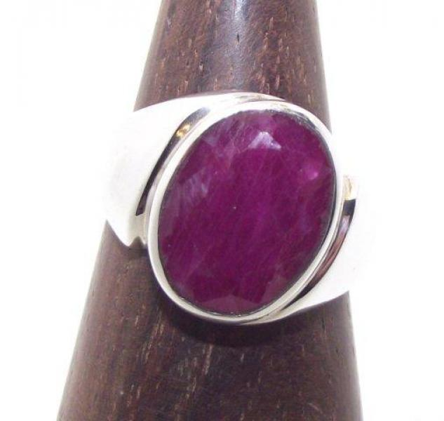 Red Indian Ruby Ring Size P