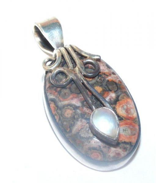 Rhyolite Luxurious Pendant - Sterling Silver