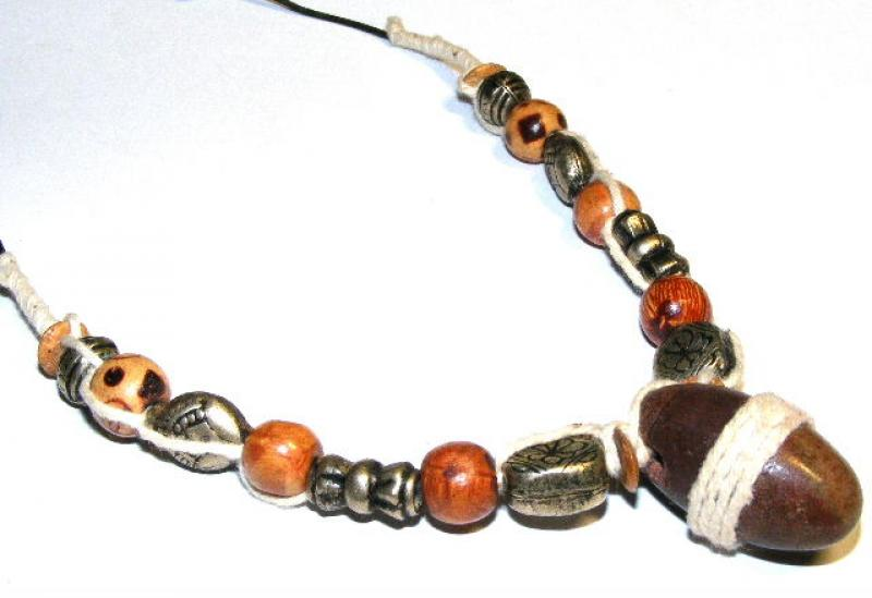 Shiva Lingham Necklace From The Narmada River In India 2