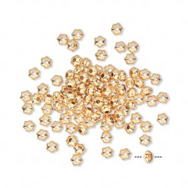 3X2Mm Gp Star Beads Pack Of 100