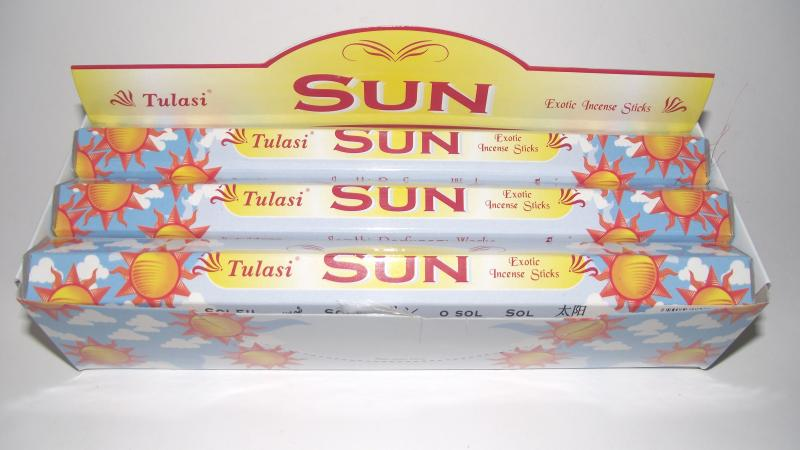 Sun Incense - Box Of 120 Sticks - TULASI