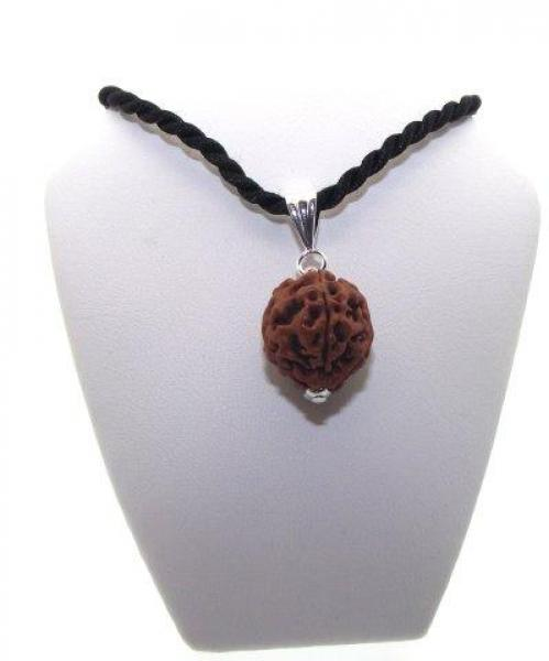 Sacred Bodhi Wood Nut Seed Pendant with Silk Thong