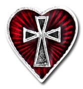 Sacred Heart Alchemy Gothic Pewter Stud Earring