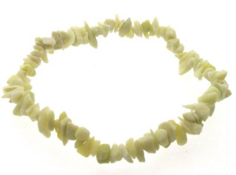 Serpentine Gemstone chip bracelet Attracts Love