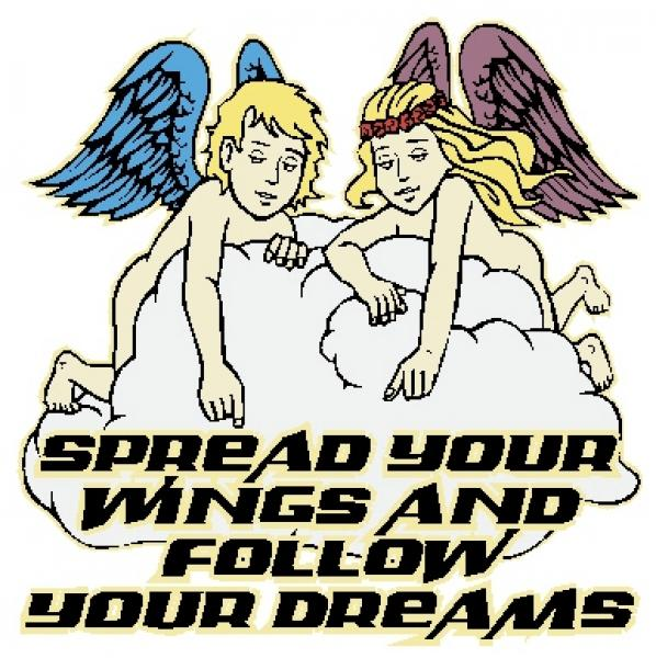 Spread Your Wings And Follow Your Dreams Window Sticker