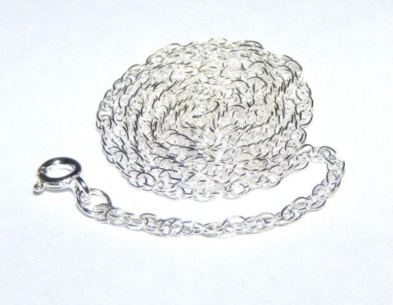 "18"" Sterling Silver Medium Rope Chain"