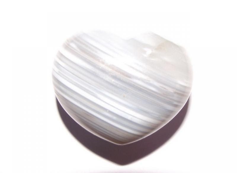 Banded Agate Gemstone Heart