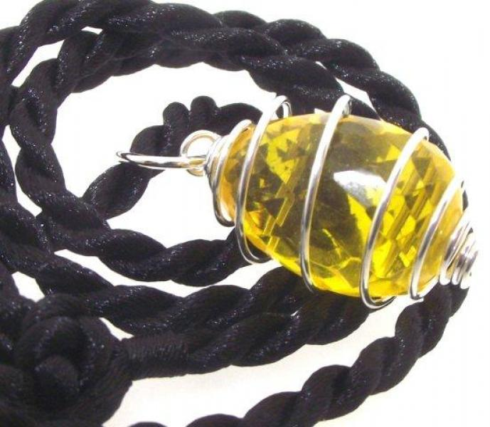 Sunset Andara Glass Spiral Pendant pure amazing energy