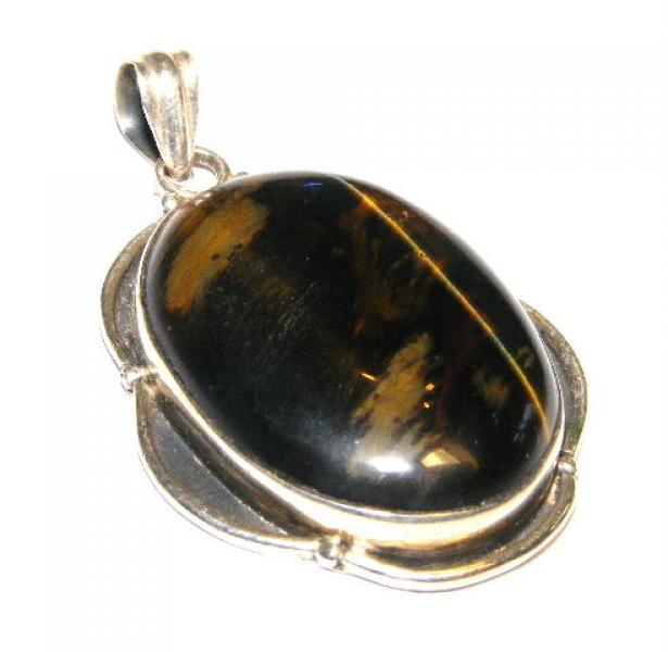 Tiger Eye Frill Pendant