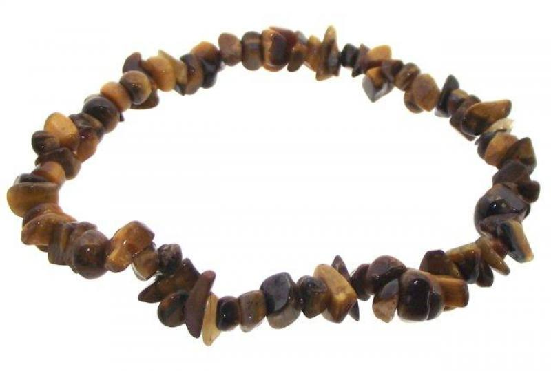 Tigers Eye Gemstone Chip Bracelet