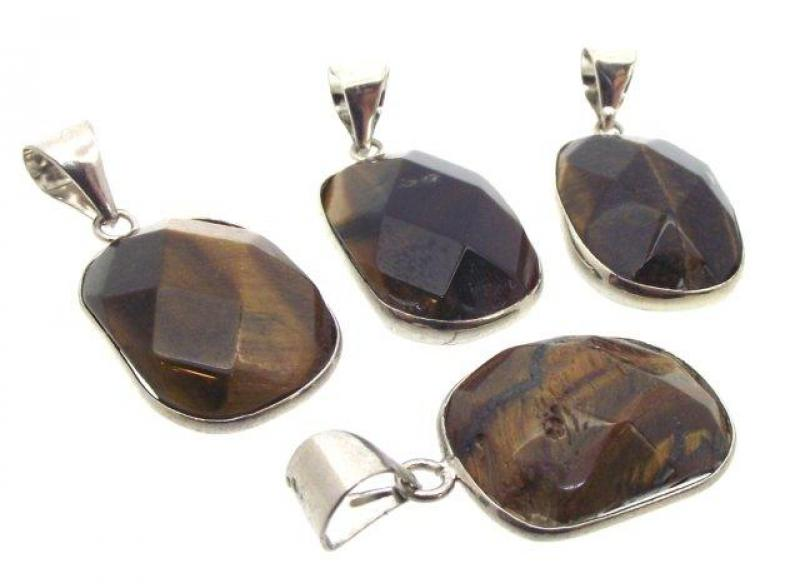 Tigers Eye Gemstone Pendant