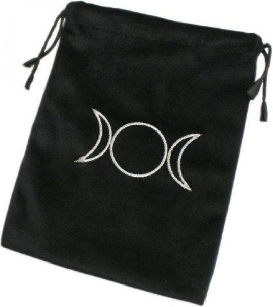 Triple Moon Black Velvet Tarot Bag - Extra Large