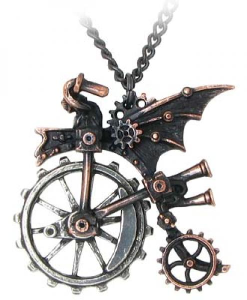 Ventus Traction Farthing Alchemy Gothic Pendant