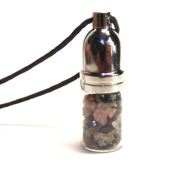 Watermelon Tourmaline Mojo Bottle Pendant Balance