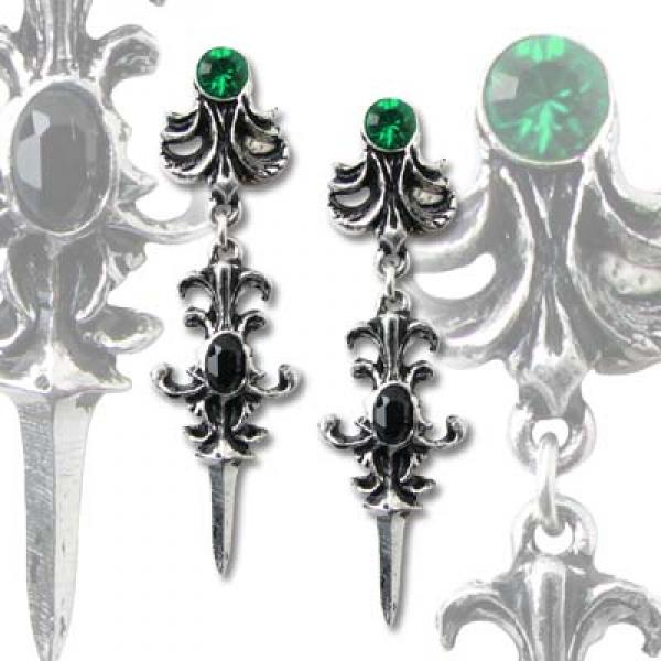 Westenra Spica Alchemy Gothic Pewter (Pair) Earrings