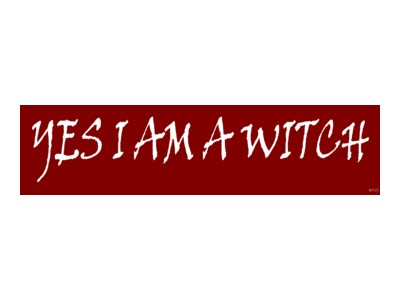 Yes I Am A Witch Bumber Sticker