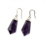 Amethyst Rio Grande Earrings - Sterling Silver