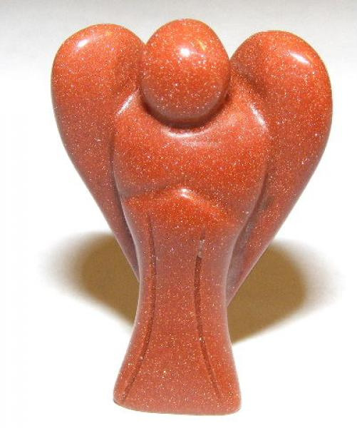 Goldstone Gemstone Pocket Angel - 35mm