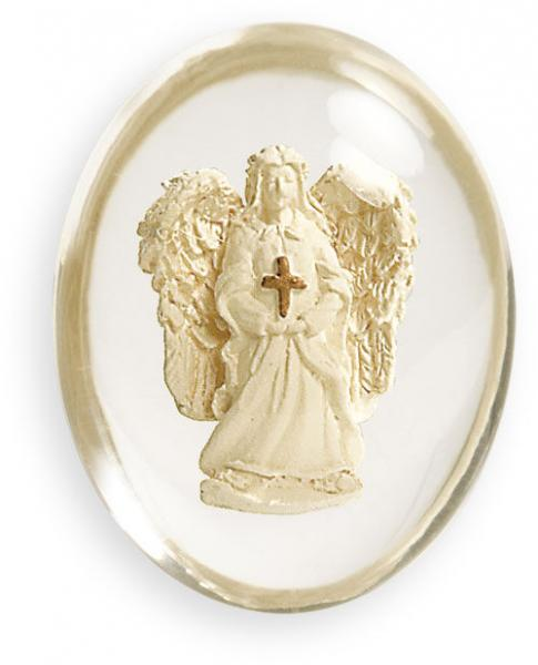 Angel with Cross Worry Stone