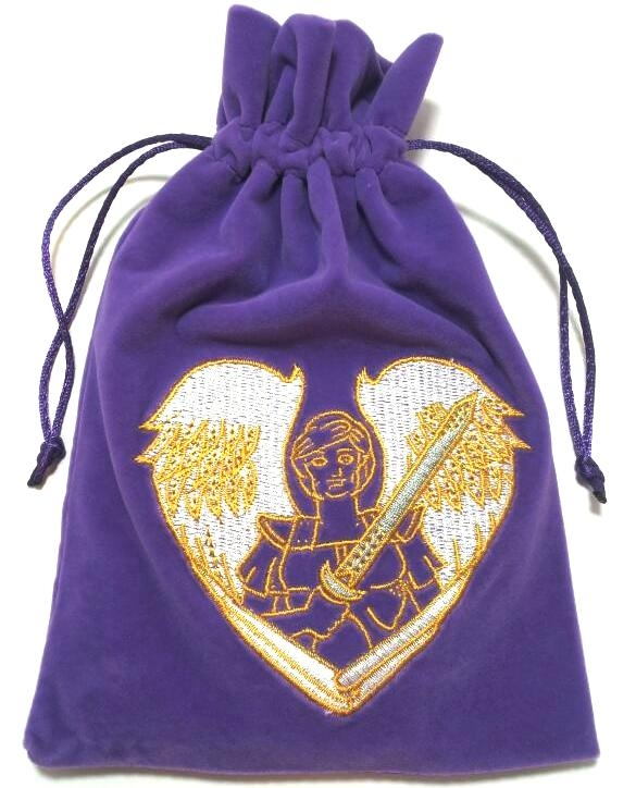 Archangel Michael Embroidered Luxury Pouch