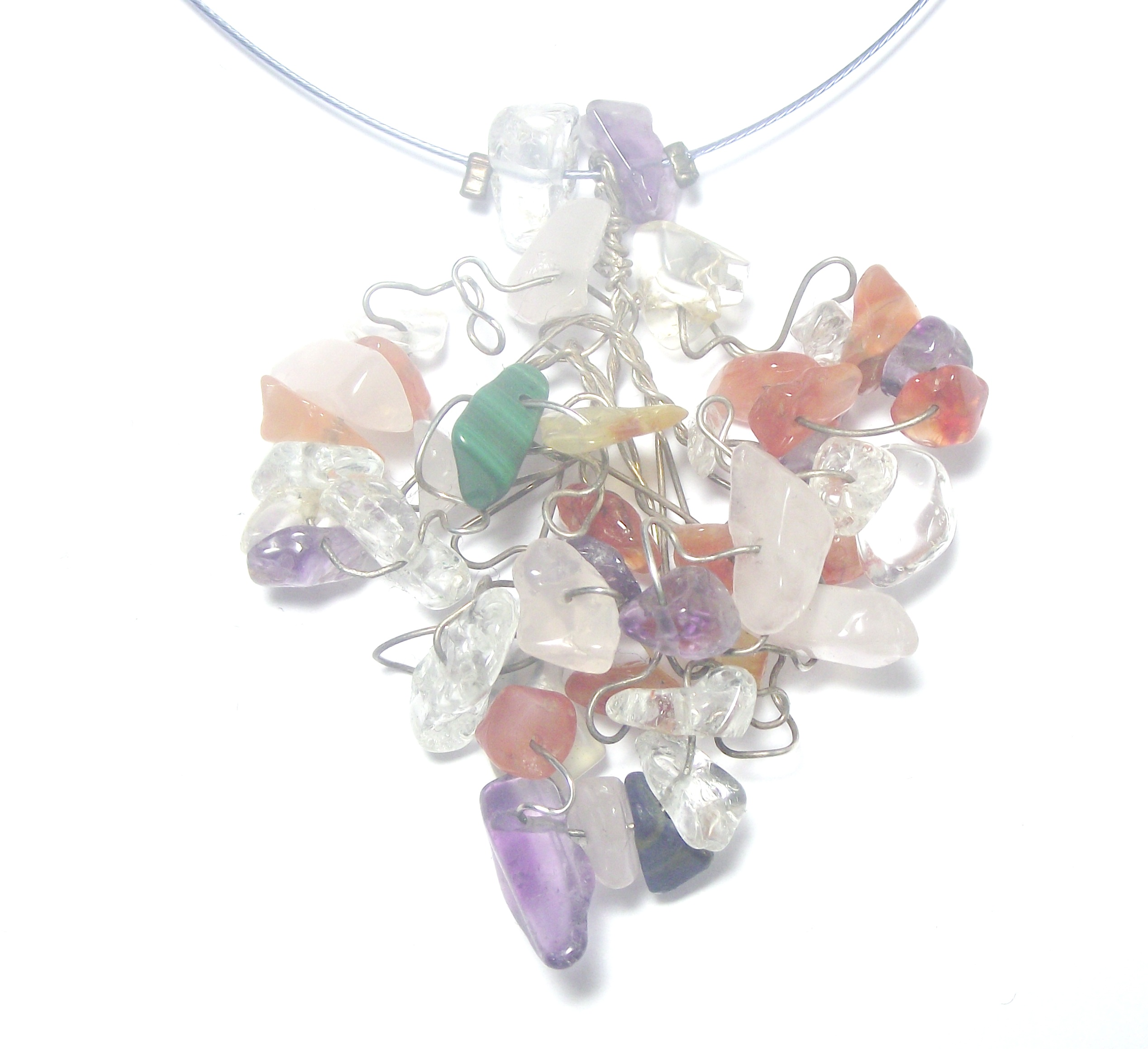 swarovski drop silver necklace gemstone made embellished colour zoom jon richard jewellery created multi necklaces y with crystals