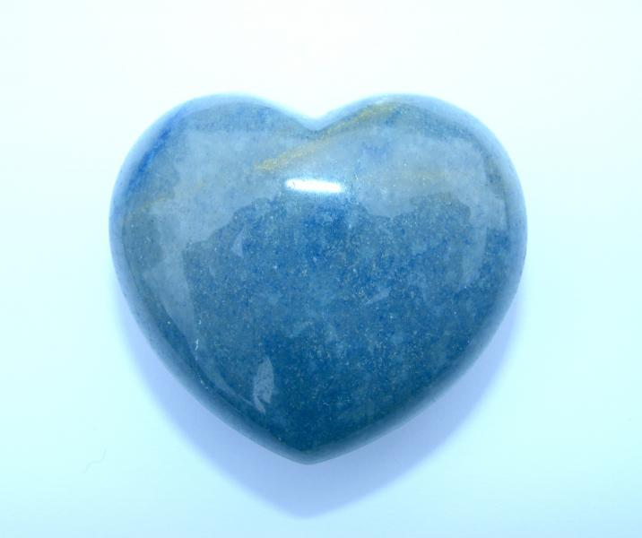 Blue Aventurine Polished Gemstone Crystal Heart - Large