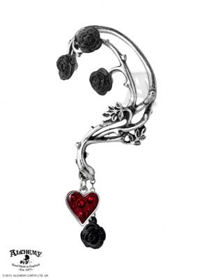 Bed of Blood Roses Ear Wrap - Single Earring
