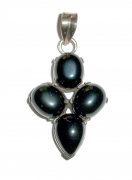 Black Onyx Sterling Silver Gemstone Pendant
