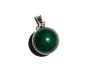 Bloodstone Gemstone Sphere Pendant