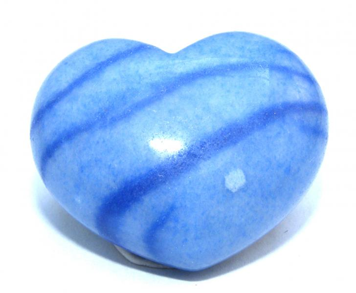 Dumortierite Polished Gemstone Crystal Heart