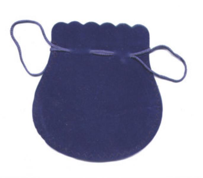 Velvet Drawstring Pouches - Blue