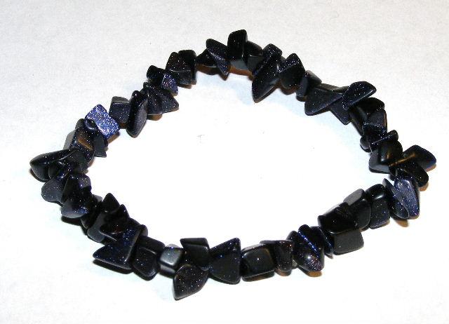 015b715feed1a Blue Goldstone Gemstone Chip Bracelet