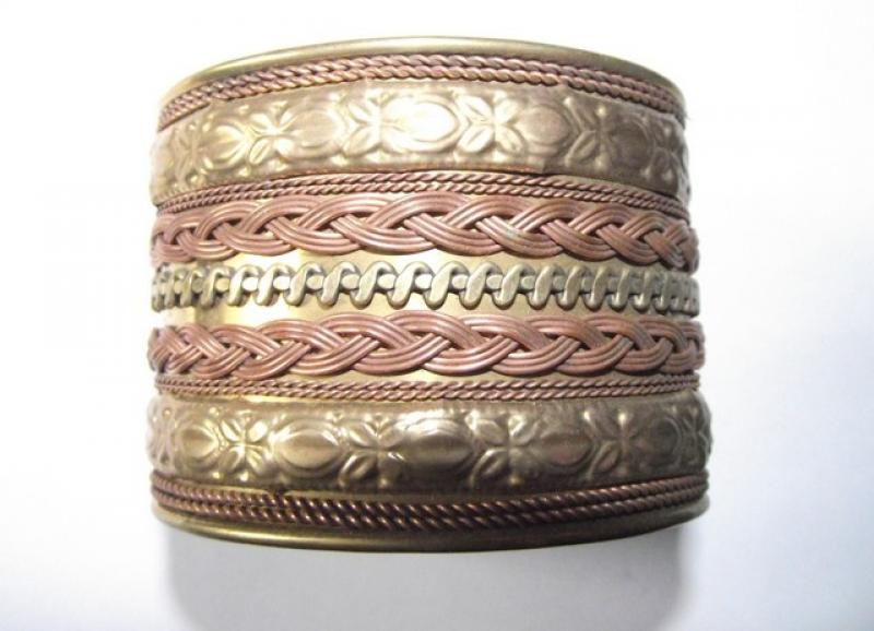 Copper Fashion Cuff Bracelet 1