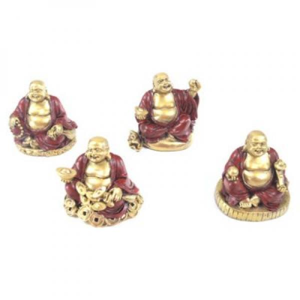 Lucky Buddha Mini Statues / Figures