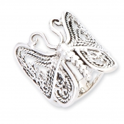 Handworked Butterfly Sterling Silver Ring