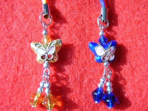 Butterfly Cloisenne Handbag / Mobile Phone Charm