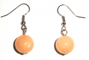Calcite Gemstone Sphere Earrings