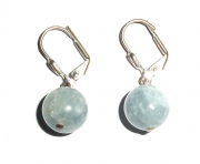 Celestite Gemstone Sphere Earrings