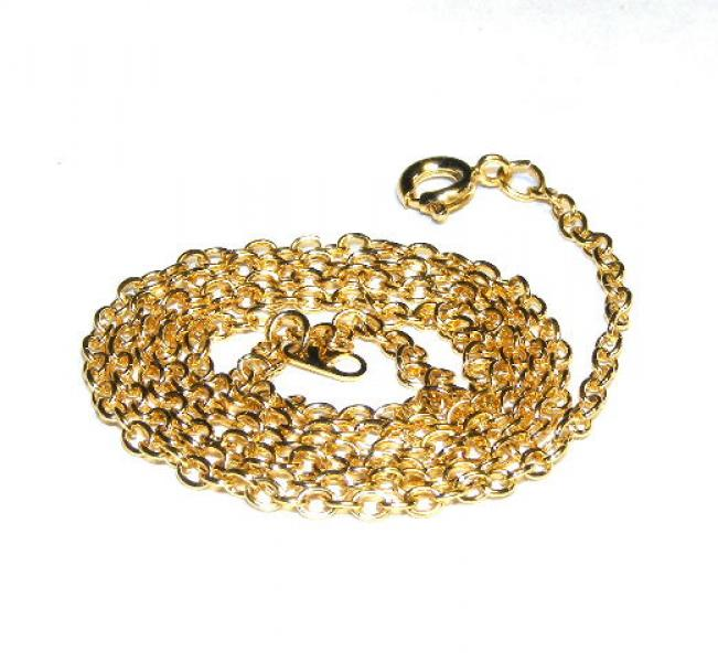 "20"" Gold Plated Trace Chain"