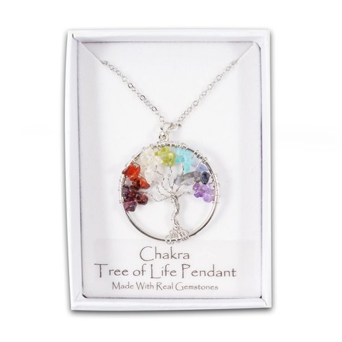 Tree Of Life Chakra Gemstone Pendant