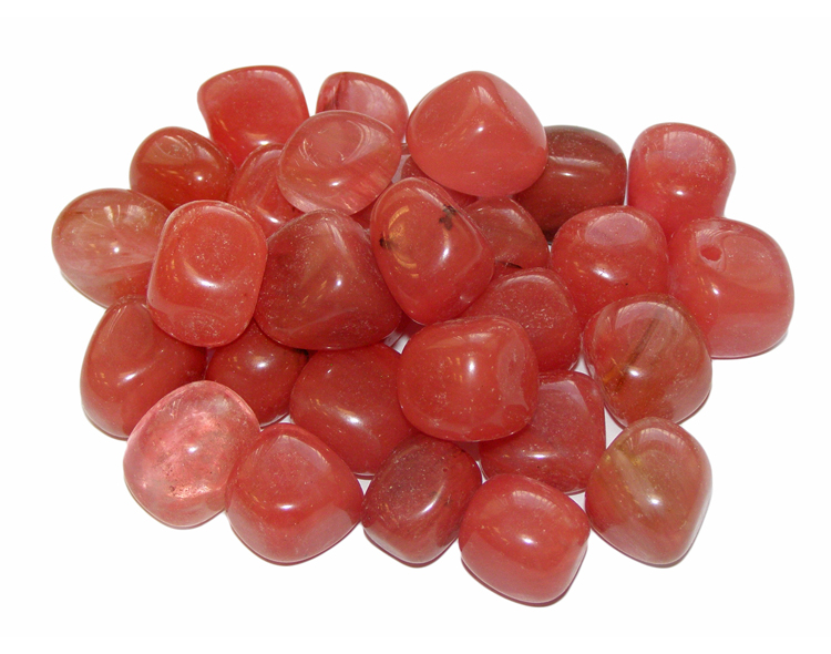 Cherry Quartz Tumbled Gemstone - Small