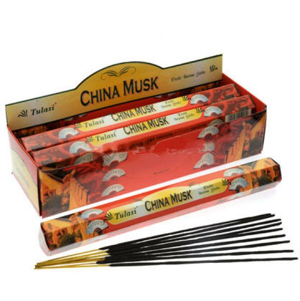 China Musk Incense Sticks - single tube of 20 sticks