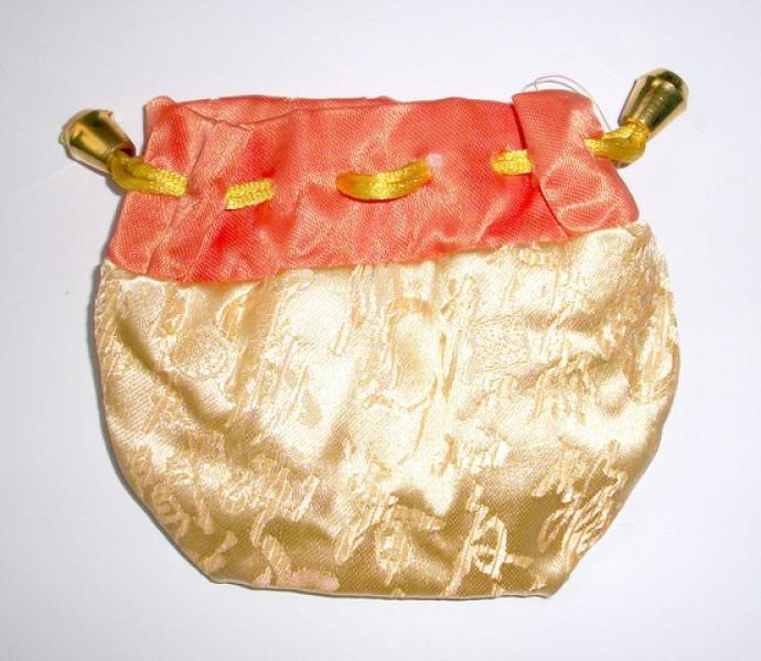 Orange and Yellow Chinese Pouch